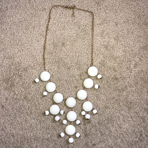 Francesca's White Necklace with Balls